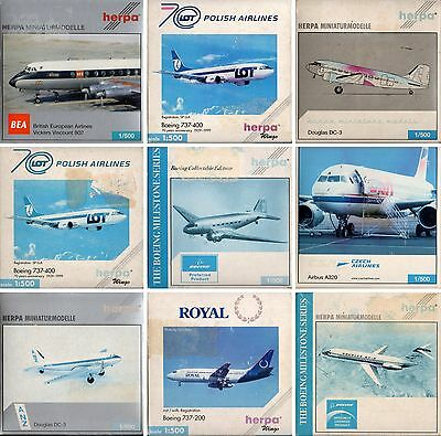 Herpa Wings-Aircraft-Boeing-McDonnell-Douglas--Airbus-Collectible Edition-rare