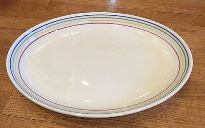 Oval Serving Platter Dish Ceraminter Made In Italy pattern CEX5 19x14x2""