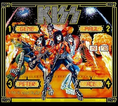 KISS Pinball Machine POSTER 1978 Bally Rare Kiss Army