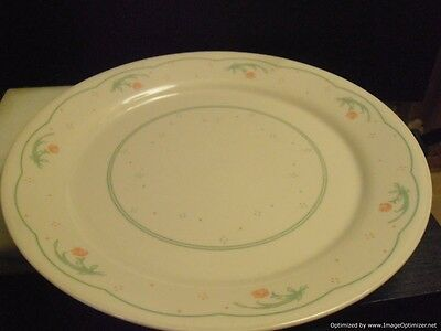 """Corelle Calico Rose Dinner Plates Set of 2 Made In The USA 10-1/4"""""""