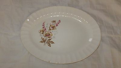 VINTAGE EDWIN M. KNOWLES CHINA CO. SEMI- VITREOUS OVAL BOWL 11 X 9