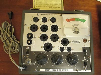 Vintage Mercury 1100A Vacuum Tube Tester with Instructions