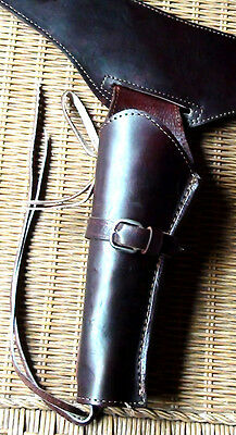 New Brunetti Leather Smooth brown Western Buscadero Holster Rig