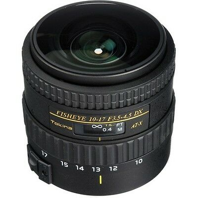 New Tokina AT-X 107 AF NH Fisheye 10-17mm f/3.5-4.5 Lens for Canon