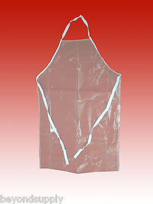 """Lab protective apron  pvc clear 27""""×42"""" new"""