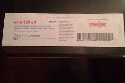 $20 Off Coupon Meijer When You Use To Fill A Prescription