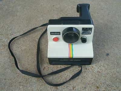 Polaroid One Step camera white w/ rainbow