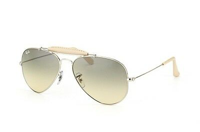 Ray Ban RB3422Q 003/32 Leather Collection Silver frame Gray Gradient 58mm