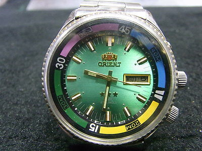 PRE OWNED UNUSUAL LUG ORIENT RARE JUMBO KING DIVER MEN'S AUTOMATIC WATCH NR