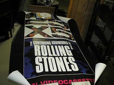 Vintage Rolling Stones 25 X 5 Promo  Poster 1989 Vg