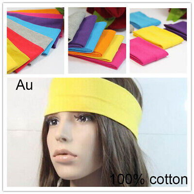 Sports Yoga Headband Gym Stretch Cotton Head Hair Band Armband Girls Womens Kids