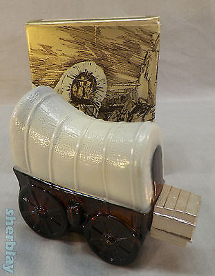 AVON COVERED WAGON Decanter EMPTY COLLECTIBLE Bottle in Original Box