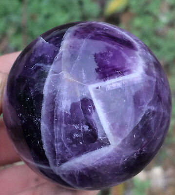 176g Natural Dream Amethyst Ball Purple Crystal Polished Sphere Healing#1533