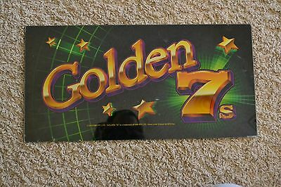 Golden 7's GWI PTY LTD. 2002 Slot Machine Glass Marquee Sign Casino Games