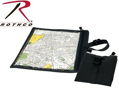 Black MilitaryTactical Waterproof Map & Document Case Pouch 9838