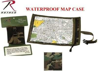 Woodland Camouflage MilitaryTactical Waterproof Map & Document Case Pouch 9195