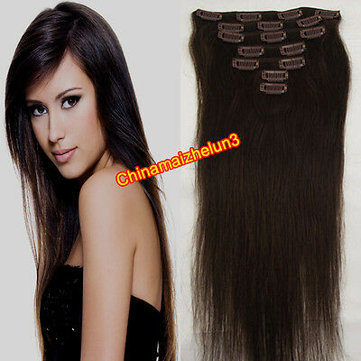 Hotsale Promotions Fashion Clip in Remy Human Hair Extensions 7pcs 15'' 70g #2