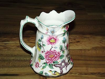 """OLD FOLEY CHINESE ROSE PITCHER-STAFFORDSHIRE ENGLAND 6 1/4"""""""