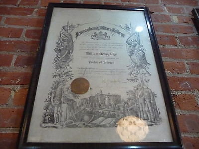 Pennsylvania Military College Doctorate of Science Diploma Early 1900s