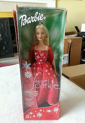 2001 Season's Sparkle Barbie with Child Size Ring Included