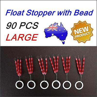 90 X Like Fishing Rubber Floats Stopper with Bead Size Large