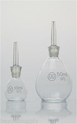 Lab  glass Specific Gravity Bottle DETERMINATION Pycnometer  250ml new