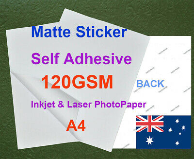 200 sheets A4 130GSM Inkjet & Laser Matte Photo Paper Sticker Adhesive