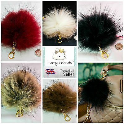 SUPER LARGE KEYRING! 18cm Fluffy Hair Ball Spring Unique PomPom Clothes Charm