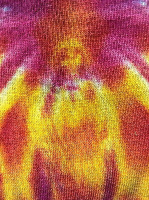 Apparition of Jesus on tie dye tee-shirt