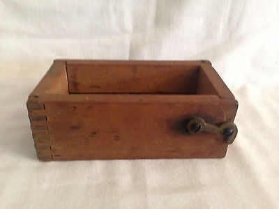 Antique COOKIE BUTTER MOLD Wooden Dovetailed Box 3pcs DOUBLE PRINT box locks