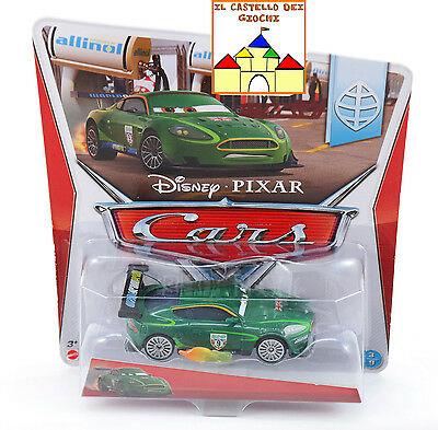 CARS Personaggio NIGEL GEARSLEY CON FIAMME in Metallo scala 1:55 Mattel Disney