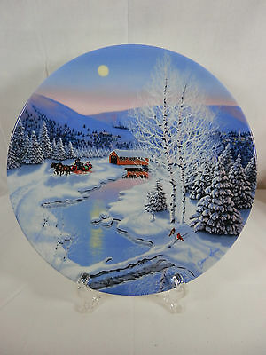 "W. S. George China Coll Plate Spirit of Christmas ""Jingle Bells"" #2"