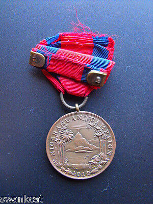 Original Early USMC Marine Corp Nicaraguan Campaign 1912 Medal numbered 478