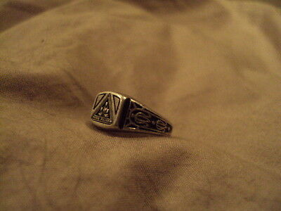 Vintage FILIAE Masonic Jobs Daughters Honored Queen's Sterling Silver Ring
