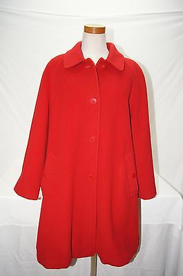 Brooks Brothers wool blend red coat womens size 10 made in Italy zz