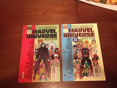 Official Handbook Of The Marvel Universe Master Edition 35 and 36 - Final Issue