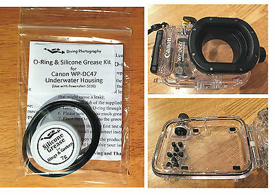 O-ring & Silicone Grease Kit for Canon WP-DC47 Diving Underwater Housing Case