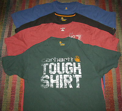 Lot of 4 Carhartt Short Sleeve Graphic T-Shirts Size L Excellent Condition
