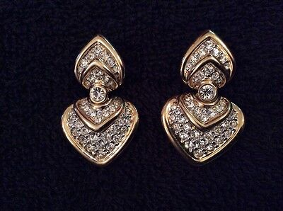 Cabouchon Jewellery - Gold Plated Hinged Earrings - Used for display, never worn