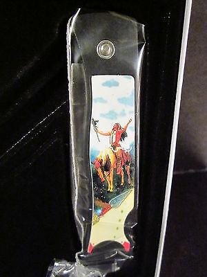Indian Collectible Knife DELIVERANCE American Indian New In Box  New Old Stock