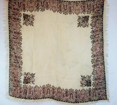 EXQUISITE ANTIQUE SILK PAISLEY 1845 FRENCH SHAWL,MET MUSEUM NY, VICTORIAN