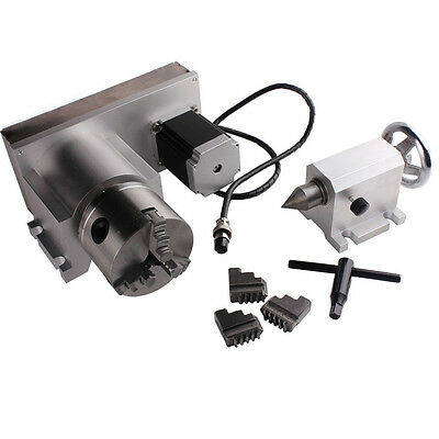 CNC Machine Accessory A-Axis, 4th-Axis, F Style Rotary Axis 80mm 3-Jaw Scro Mach