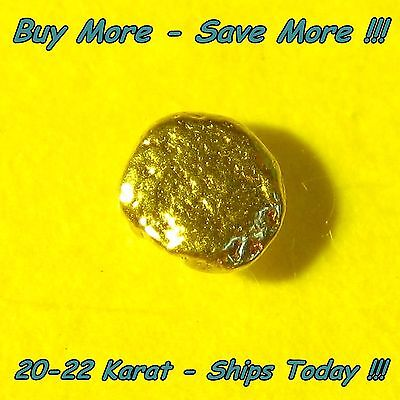 Gold Nugget Alaska Placer .063 Gram Flake Fines Real From Alaskan Natural Raw