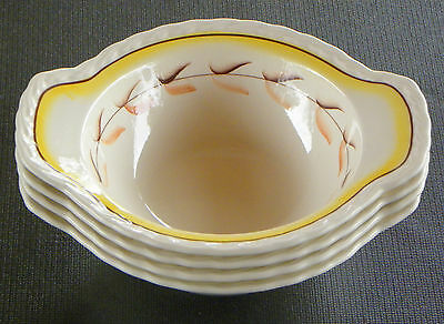 METLOX ~ POPPYTRAIL ~VERNON ~ ARCADIA - 4 LUGGED CEREAL BOWLS read more ...