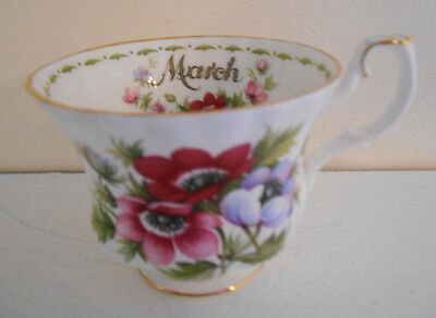Royal Albert March Flower of the Month Cup Anemones