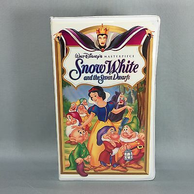 Snow White and the Seven Dwarfs (VHS, 1994) Walt Disney's Masterpiece Collection