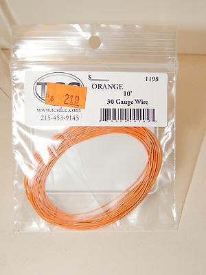 TCS #1198 Orange 10 feet of 30 Gauge Wire for DCC NEW