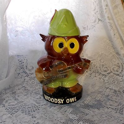 """Vintage McCoy Pottery Woodsy Owl Give a Hoot Cookie Jar 12 3/4"""" Mint Condition"""