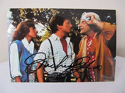 Hand Autographed 4X6 Michael J Fox - Back To The Future Postcard