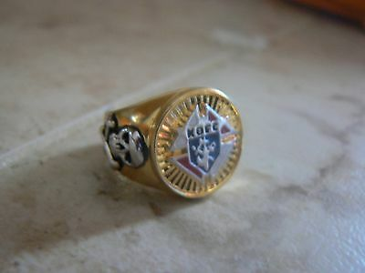 Knights of Columbus ring 18k gold platted size 8 & 10